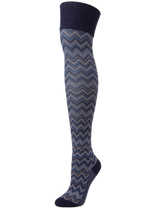 Color Zag Over The Knee Length Socks