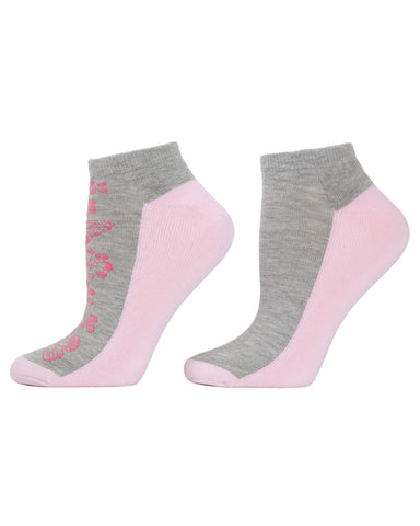 Butterfly 2-Pack Cushioned No-Show Socks