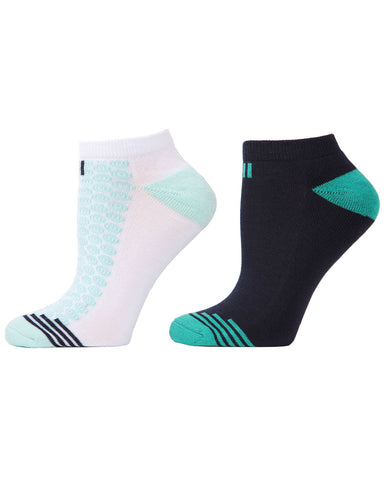 Radial Flowers 2-Pack Cushioned No-Show Socks