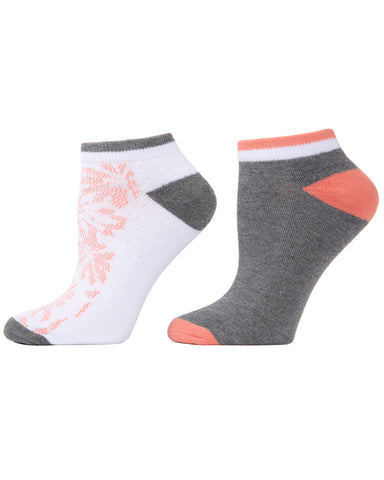 Floral Burst 2-Pack Cushioned No-Show Socks