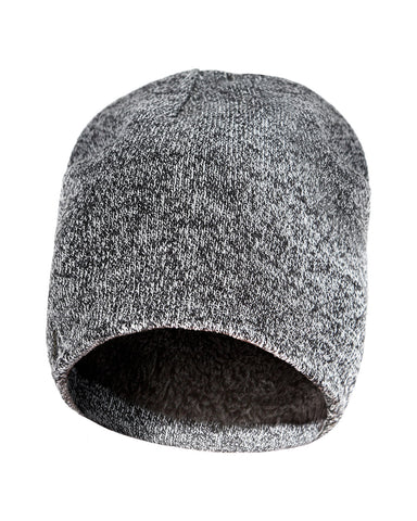Knit Pull Hat Insulated W/Plush Fur-Like Lining