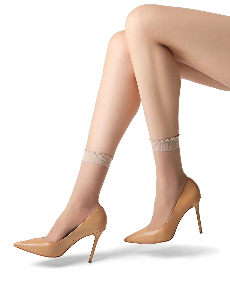 Levante Levante Ritz Women's Satin Sheer Anklet