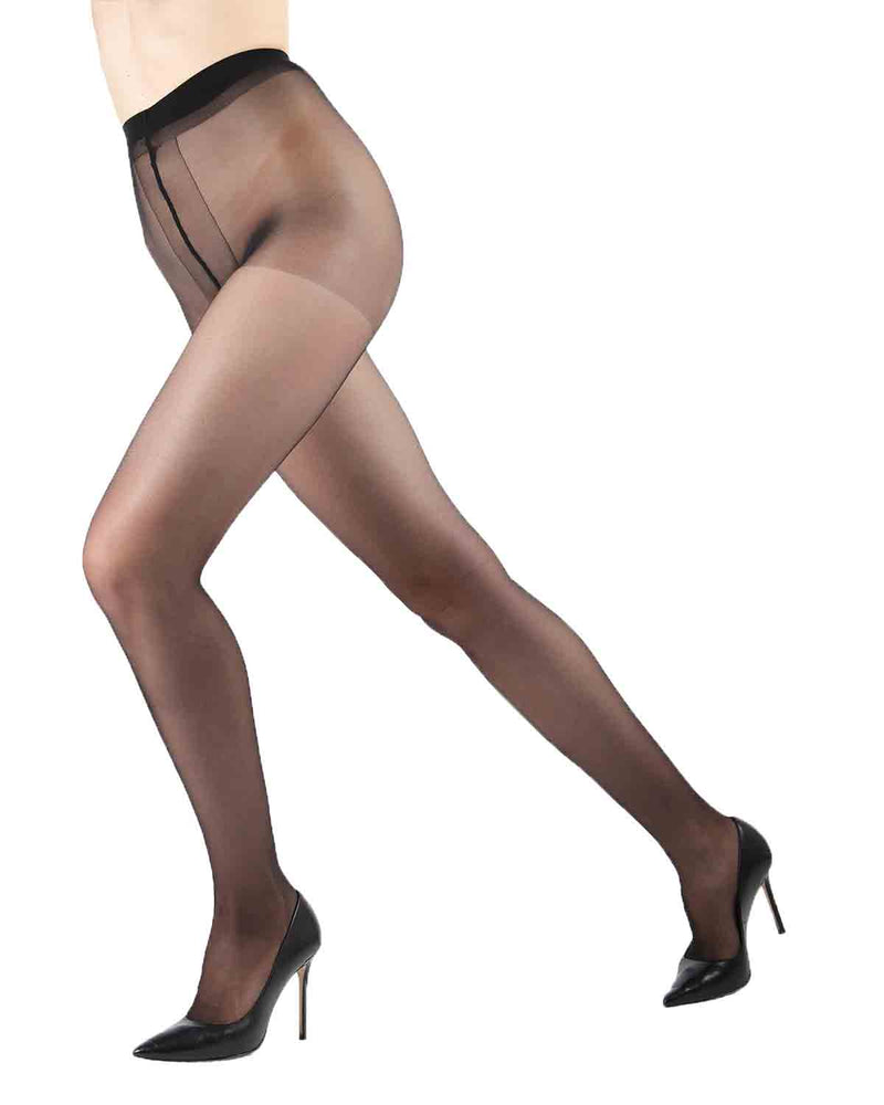 Sheer Control Pantyhose | Sheer Tights by Levante® | SHEER CONTROL | Nero