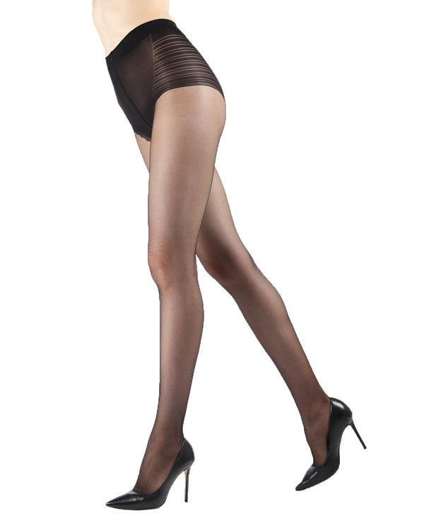 Sheer Low Waist Bikini Brief Tights | Sheer Tights by Levante® | SHEER LTW | Nero
