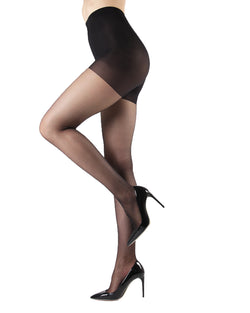Silk Caresse Sheer Control Top Pantyhose | Women's Tights by Levante -1