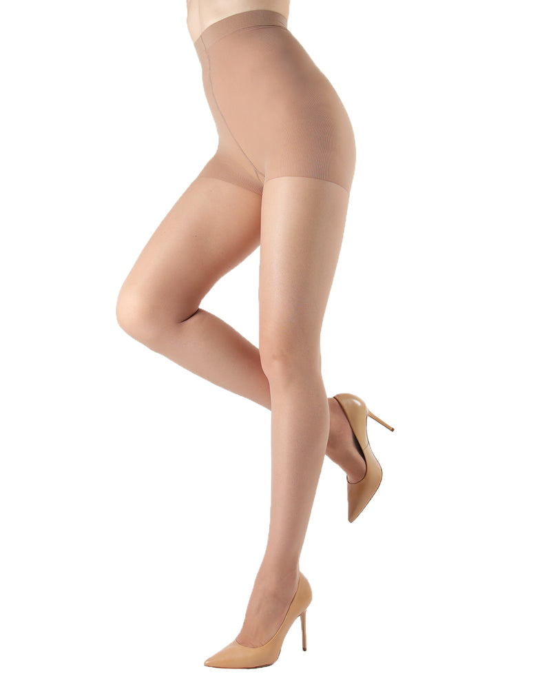 Silk Caresse Sheer Control Top Pantyhose | Women's Tights by Levante -3