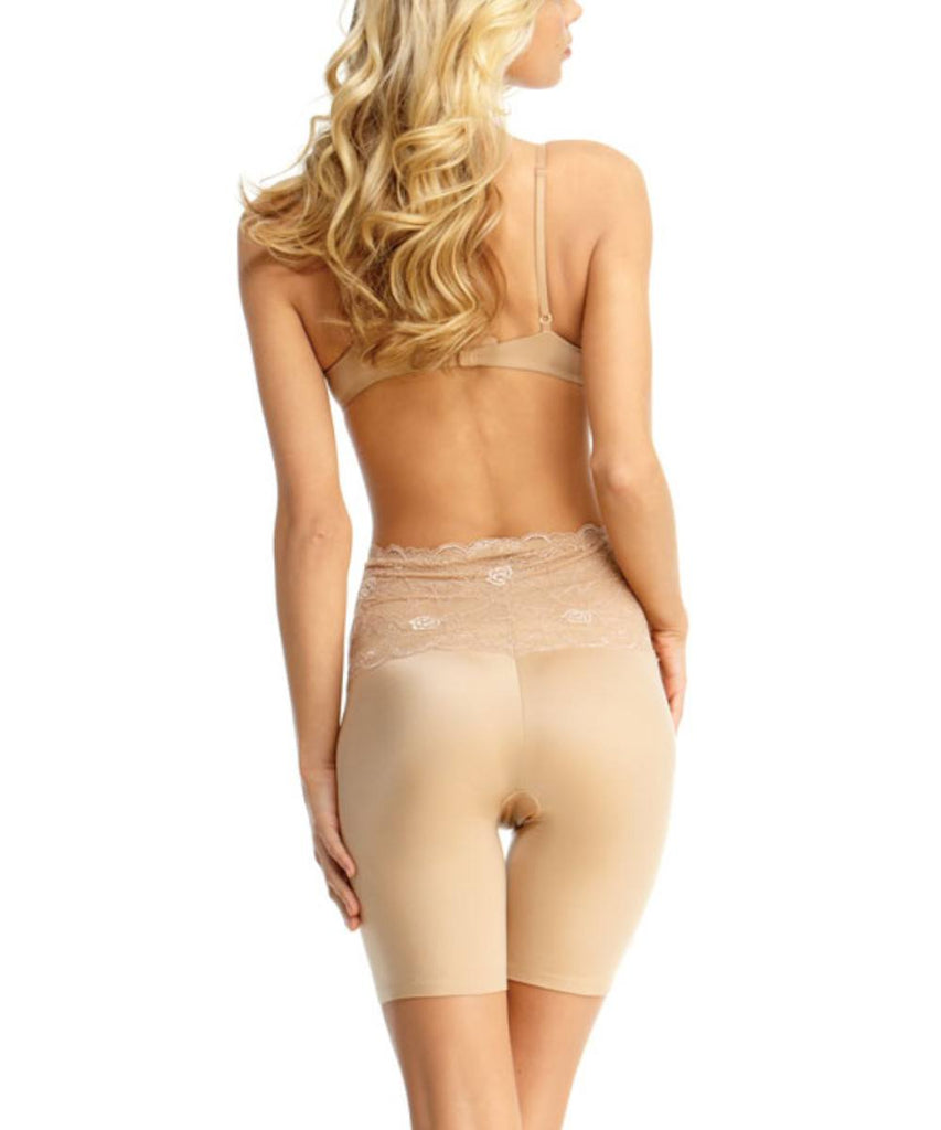 Mid-Thigh Slimmer Lace Smooth Body Shaper - MeMoi - 2