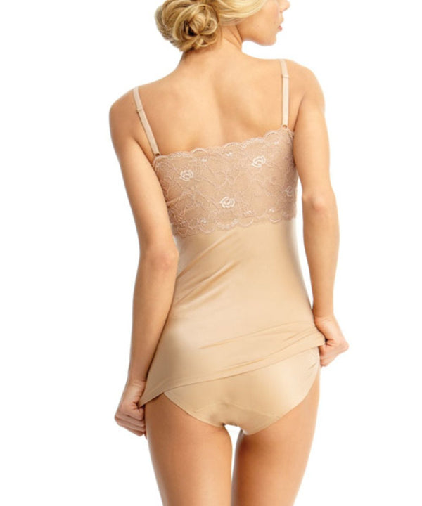 MeMoi Lace Shaping Cami | Women's Sexy Shapewear Camisole Collection (Rear) | Nude SLU-115