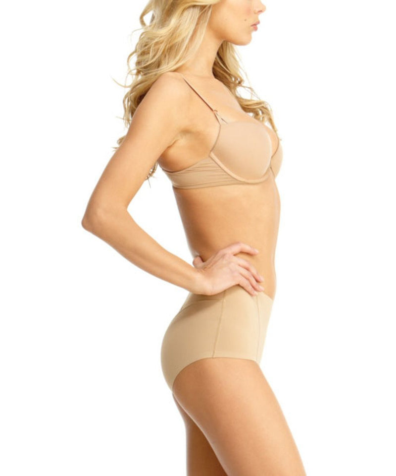 MeMoi Ultra Control Shaping Brief | Women's Top Compression Shapewear (Side) | Nude SMX-100