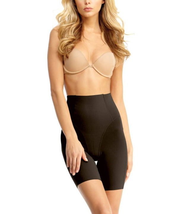 MeMoi High Waisted Thigh Shaper | Women's Top Leg Compression Shapewear Shorts | Black SMX-108