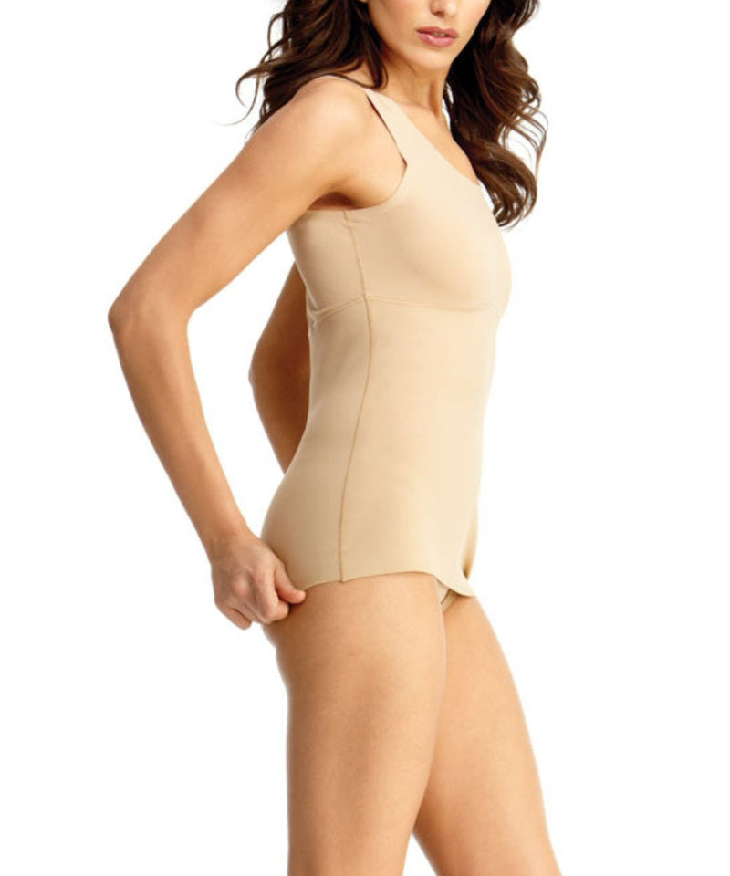 MeMoi Ultra Shaper Cami | Women's Top Compression Shapewear Camisole ( Side) | Nude SMX-117