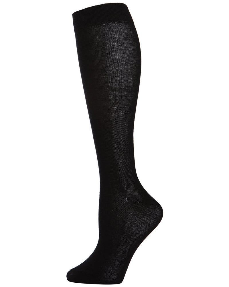 Girls Knee Hi Uniform Socks | School Uniform Socks for Girls | Cotton, Polyester, Spandex | Black SP 1019