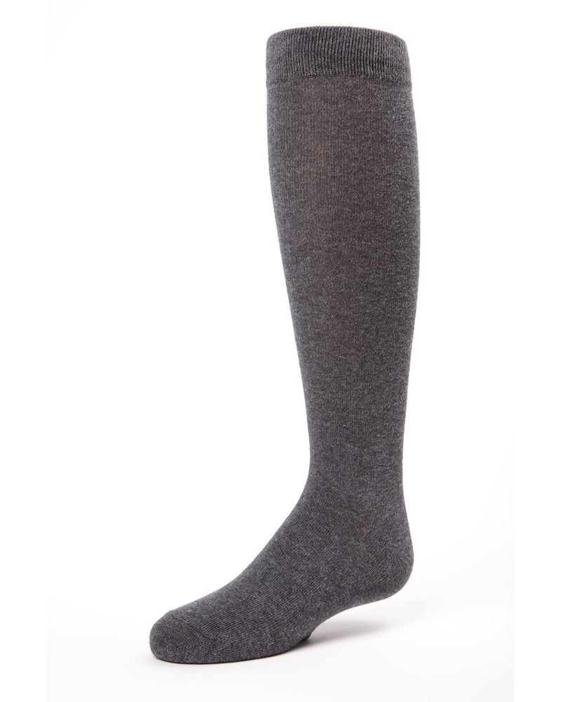 Girls Knee Hi Uniform Socks | School Uniform Socks for Girls | Cotton, Polyester, Spandex | Charcoal SP 1019