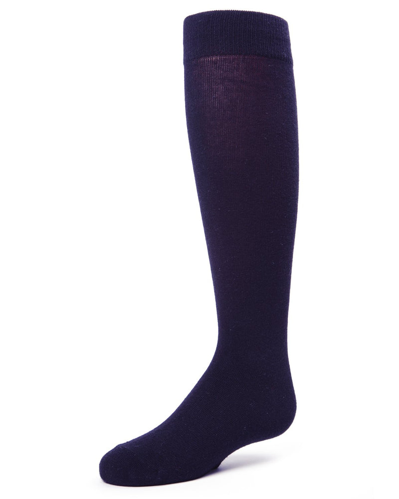 Girls Knee Hi Uniform Socks | School Uniform Socks for Girls | Cotton, Polyester, Spandex | Navy SP 1019