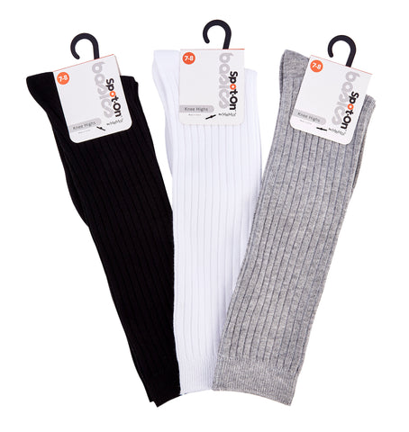 Ribbed Cotton Knee High