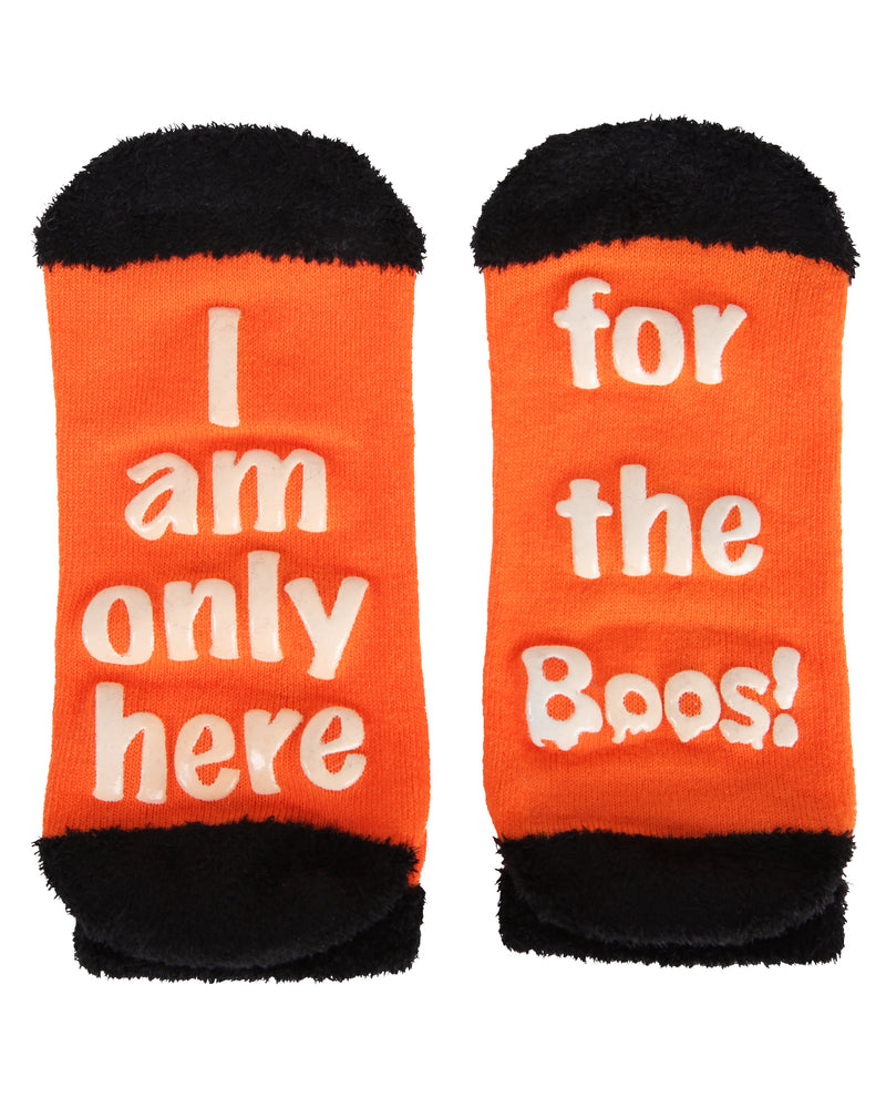 MeMoi Boos Cruise Low-Cuts Socks | Cute Fun Crazy Halloween Novelty Socks | Women's Orange SPF8-0005 (Flat Bottom)