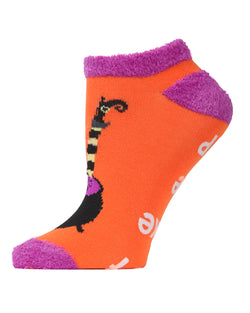 MeMoi Witch Switch Low Cut Socks | Cute Fun Crazy Halloween Novelty Socks | Women's Orange SPF8-0007 (Side)