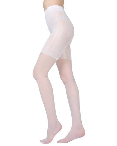 Silhouette Slimming Brief Sheer Pantyhose | MeMoi Womens Tights Collection | Womens Lingerie/Bridal | womens clothes | Bianco ETS05275