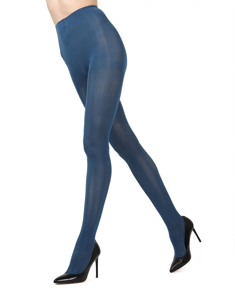 MeMoi Blue Smoke (2) Mesh Stripe Tights | Women's Hosiery - Pantyhose - Nylons