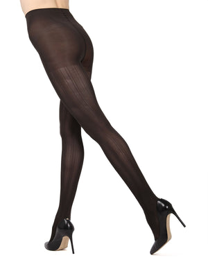 MeMoi Chocolate Chip Mesh Stripe Tights | Women's Hosiery - Pantyhose - Nylons