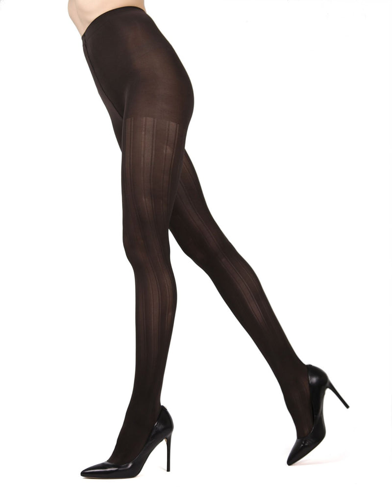 MeMoi Chocolate Chip (2) Mesh Stripe Tights | Women's Hosiery - Pantyhose - Nylons