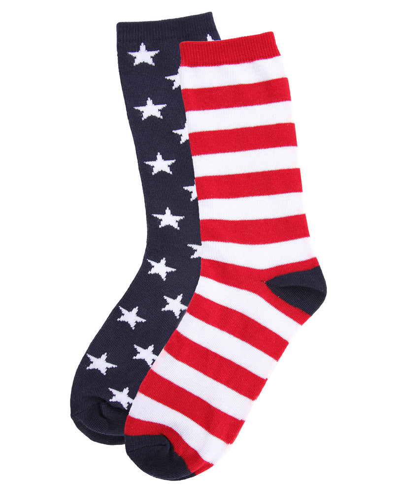 Stars & Stripes Crew Sock | Fun Mens Novelty socks by MeMoi | UCV05535-40120-9-11 -3