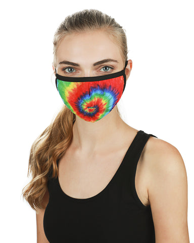 Tie Dye Fashion Face Covering | Coronavirus Face Masks by MeMoi | UMH06774 -1