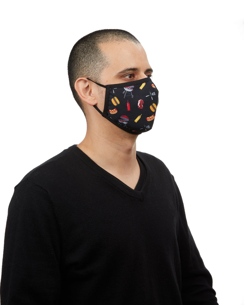 BBQ Grilling Fashion Face Covering | Coronavirus Face Masks by MeMoi | UMH06796 -3