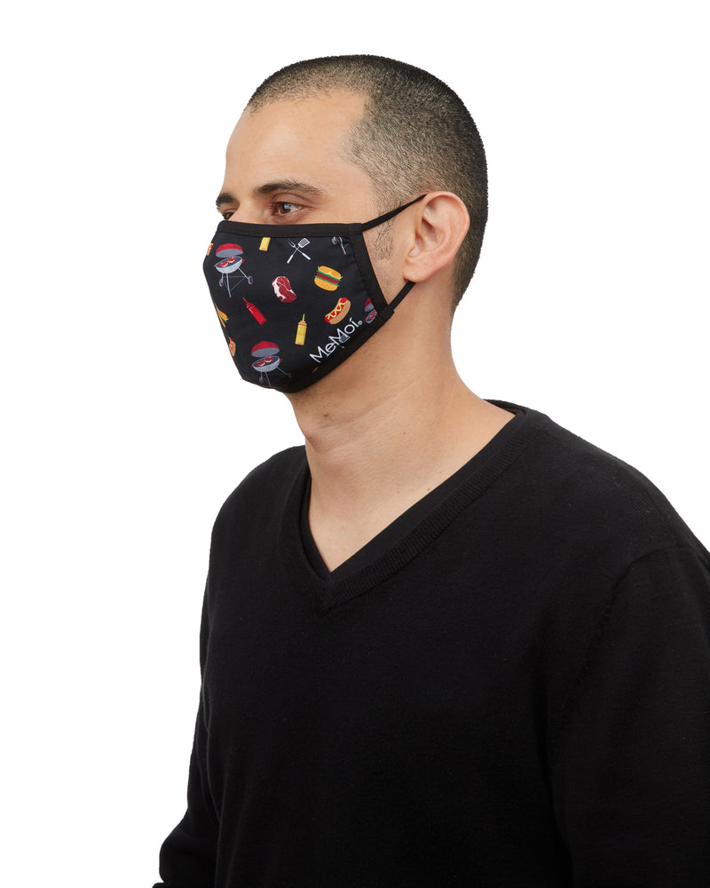 BBQ Grilling Fashion Face Covering | Coronavirus Face Masks by MeMoi | UMH06796 -2