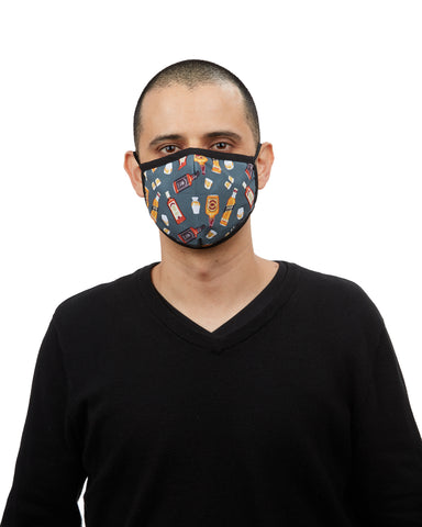 Whiskey Fashion Face Covering Mask | Coronavirus Face Masks by MeMoi | UMH06797 -1