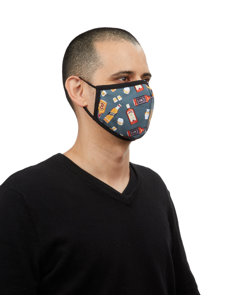 Whiskey Fashion Face Covering Mask | Coronavirus Face Masks by MeMoi | UMH06797 -4