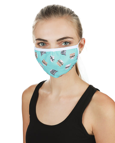 Studious Cats Fashion Face Covering Mask | Coronavirus Face Masks by MeMoi | UMH06798 -1