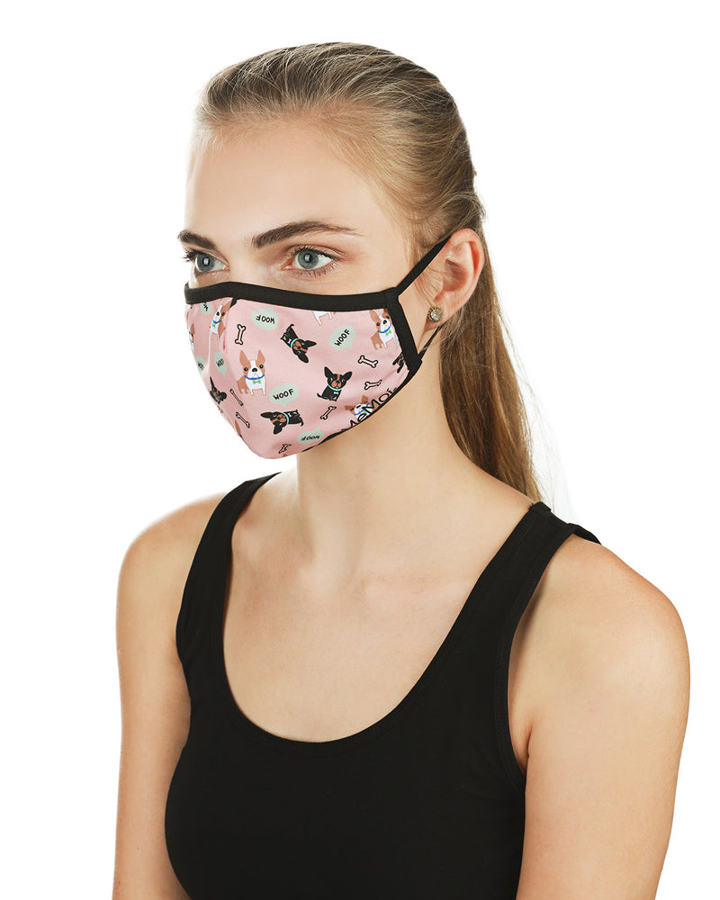 Dog and Woof Fashion Face Covering Mask | Coronavirus Face Masks by MeMoi | UMH06799 -3