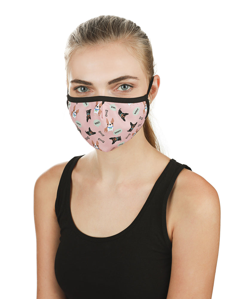 Dog and Woof Fashion Face Covering Mask | Coronavirus Face Masks by MeMoi | UMH06799 -1
