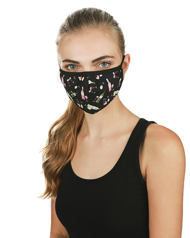 Wine Fashion Face Covering Mask | Coronavirus Face Masks by MeMoi | UMH06800 -1