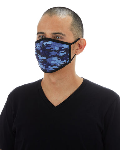 Navy Camo Unisex Face Covering