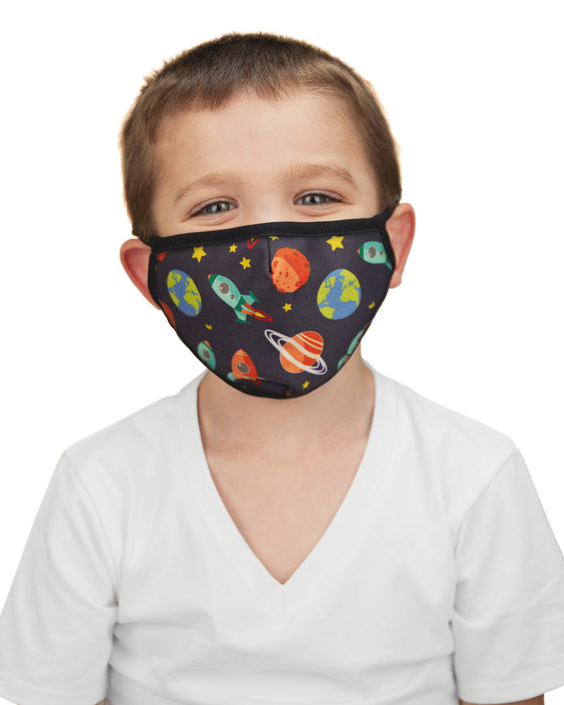 Rocket Ships Kids Unisex Face Covering