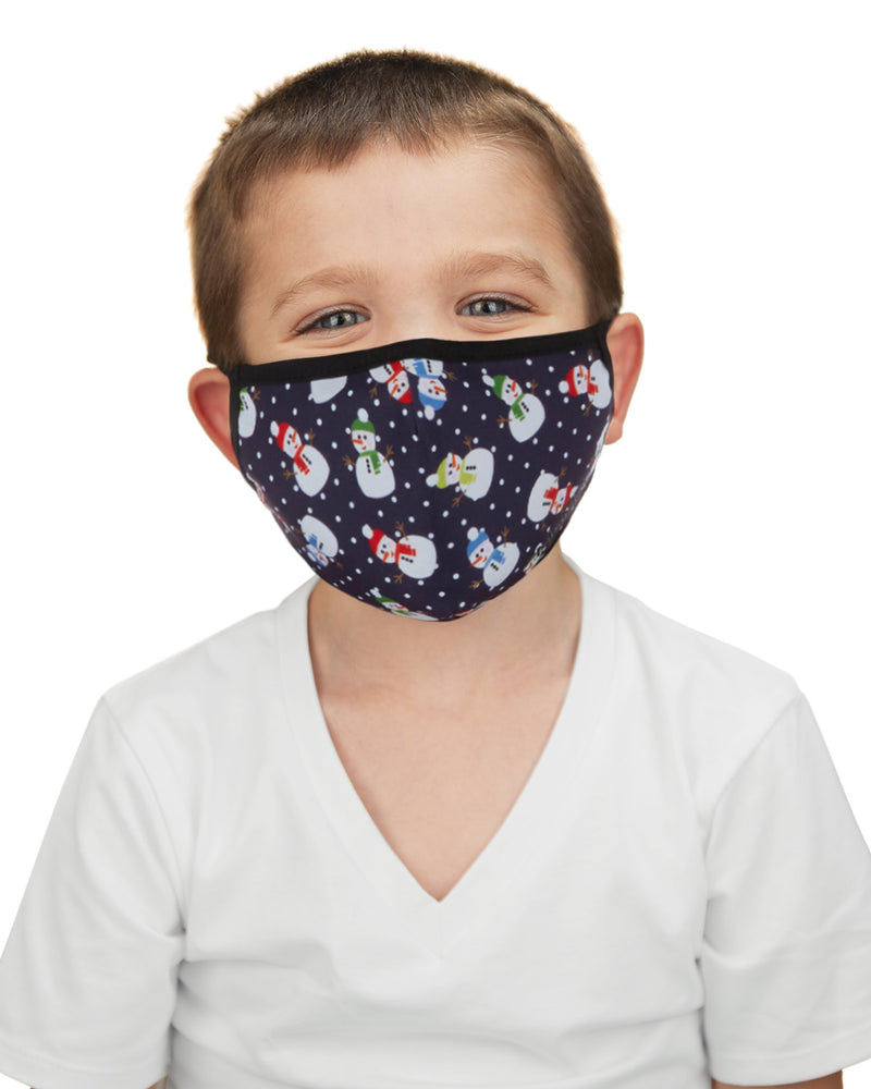 Snowman Kids Unisex Face Covering
