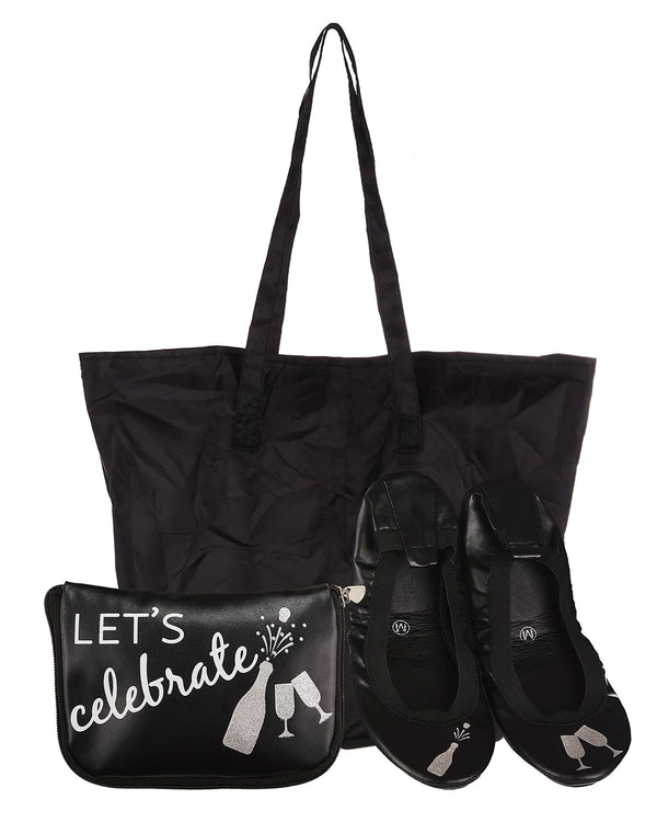 FlipFlats Let's Celebrate Foldable Flats Pouch Set