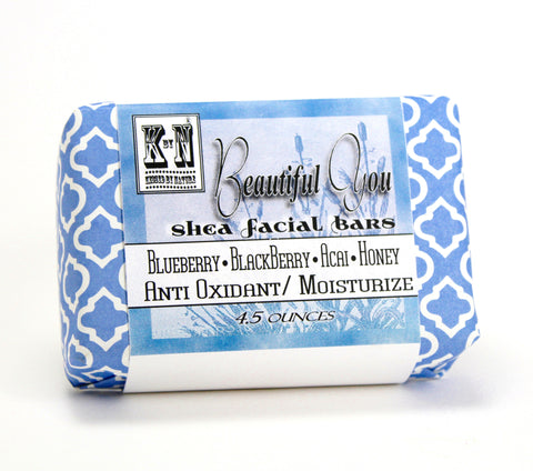 Beautiful You, Anti Oxidant & Moisturize, Blueberry , Blackberry, Acai and Honey, Face Bar, 4.5 oz