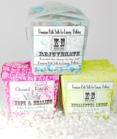 Bath Salts, Bulk Charmed Rituals, 24 oz., Choose your scent