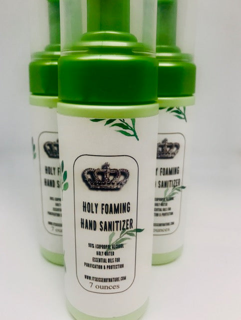 Holy Foaming Hand  Sanitizer, 7 oz., natural hand sanitizer