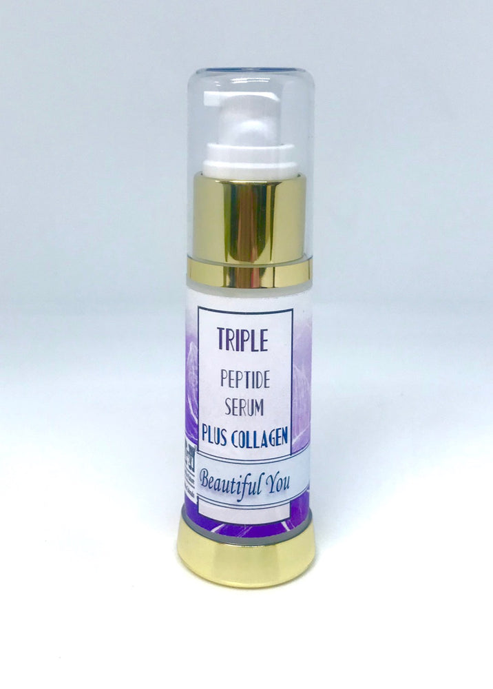 Triple peptide anti aging serum, 2.0 oz