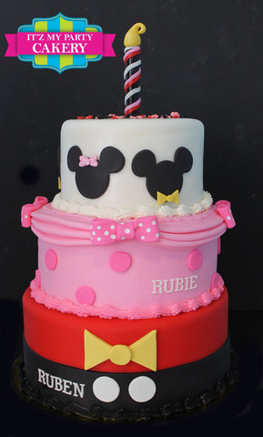 Mickey and Minnie Mouse Cake Milwaukee