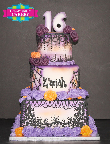 Sweet 16 Goth Cake Milwaukee