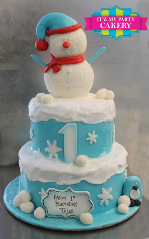 Snowman Winter Cake Milwaukee