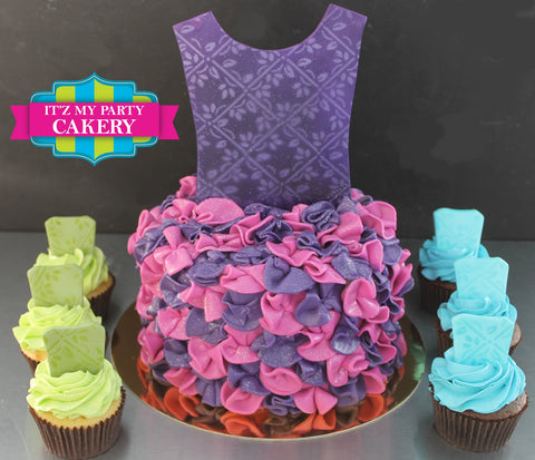 Princess Ruffle Dress Cake Milwaukee