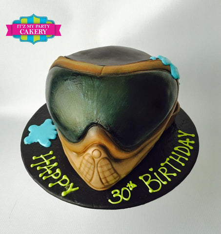 Paintball Helmet Cake Milwaukee