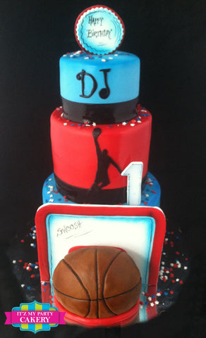 Basketball Cake Milwaukee