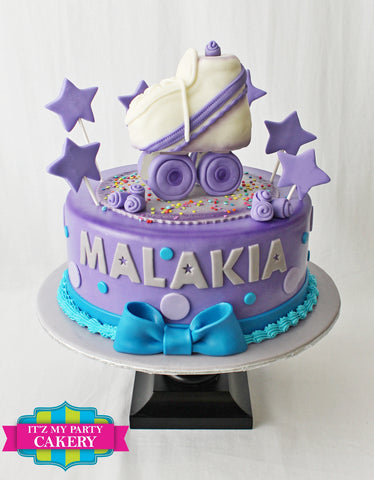 Purple Blue Roller Skate Cake Milwaukee